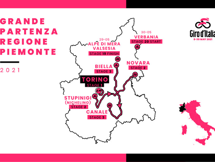 """104ª edição do Giro de Itália revela """"Grande Partenza"""""""