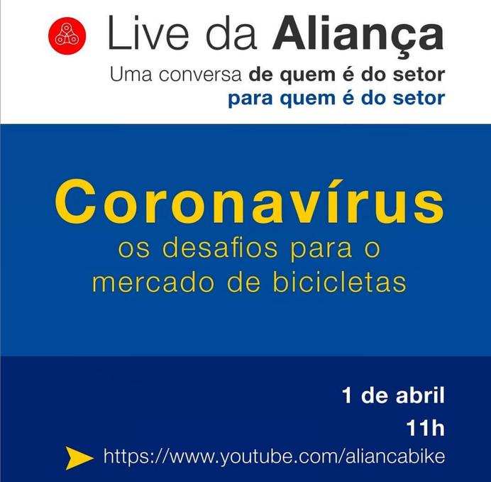 Live da Aliança Bike vai acontecer na próxima quarta-feira, com representantes do mercado nacional d