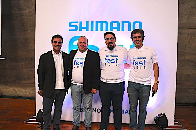 José Luis Vasconcelos (Presidente da CBC) e a parte da equipe da Shimano (Rogério, Paulo e Matheus) / Márcio de Miranda - Planeta da Bike