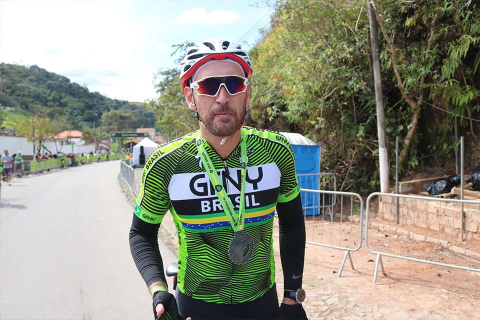 Nalbert depois de concluir a pedalada / Márcio de Miranda - Planeta da Bike