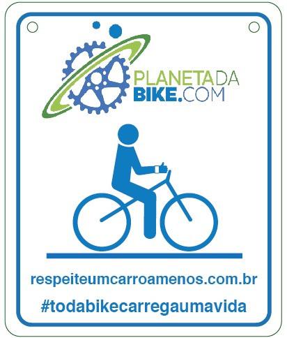 Plaquinha comemorativa de 2 anos do Planeta da Bike / Divulgação