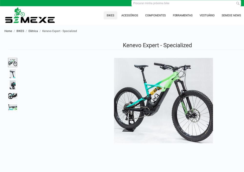 Anuncio de e-Bike no Portal / Reprodução Internet