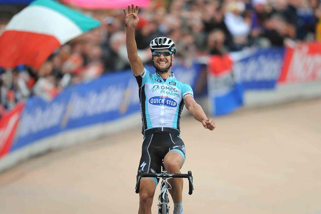 Tom Boonen comemorando a sua quarta vitória em 2012 / Divulgação A.S.O