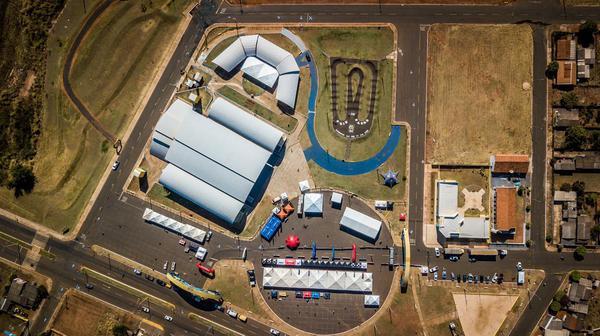 Vista aérea da área do evento  (Fabio Piva / Brasil Ride)
