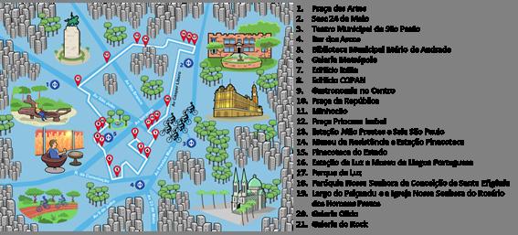 Mapa da ciclorota / Divulgação