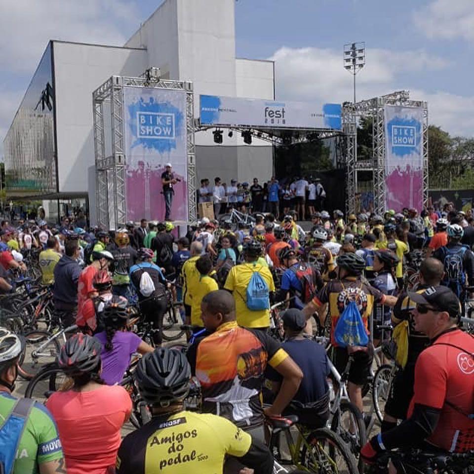 Chegada do pedal no Memorial da América Latina /Divulgação