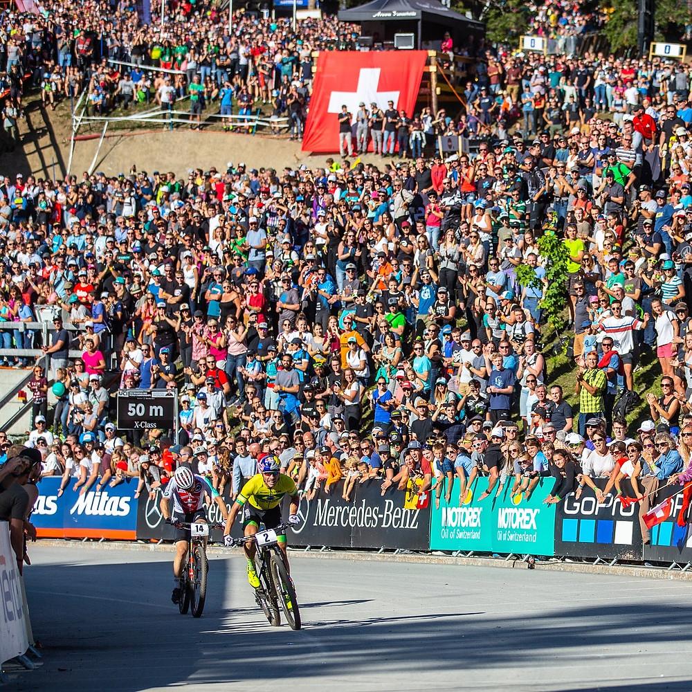 Avancini no sprint que rendeu o quarto lugar / Divulgação