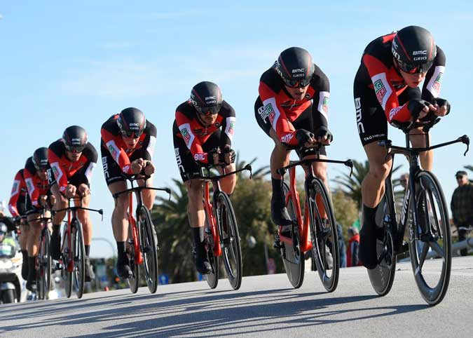 Equipe BMC bicampeã co contra-relógio por equipes na Tirreno - Adriatico / Divulgação BMC