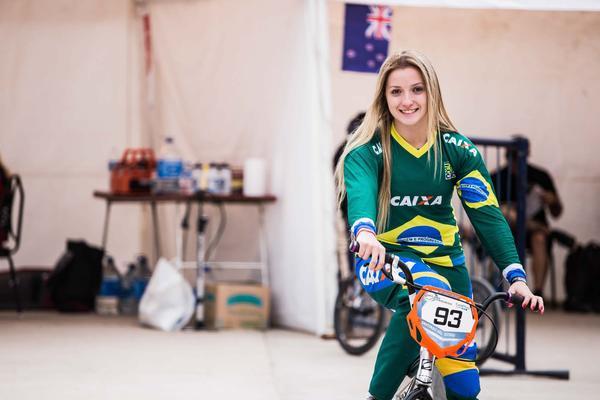 Priscilla Stevaux pela seleção brasileira (Maximiliano Blanco  CBC)