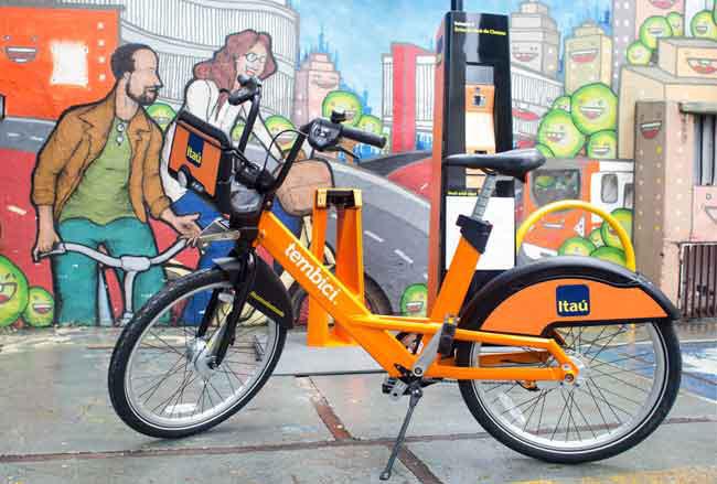 O Itaú faz parte em várias cidades do sistema de bikes compartilhadas / Divulgação