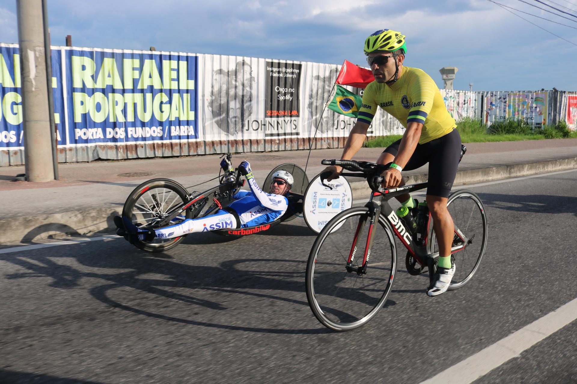 Ciclistas em ação