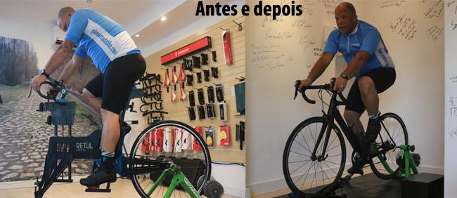 Antes e depois do BG Retul / Planeta da Bike