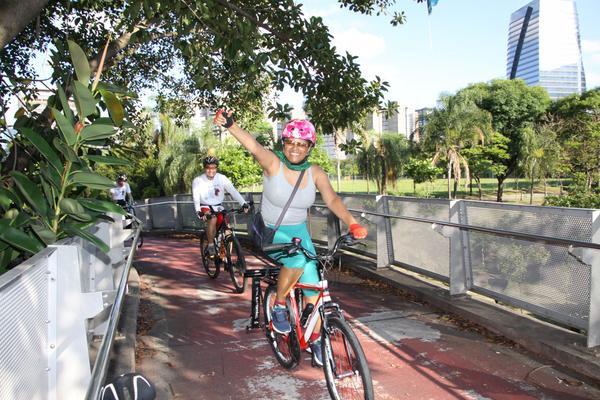 Filó, da Ong Pedal Sustentável (JB Carvalho / Shimano)