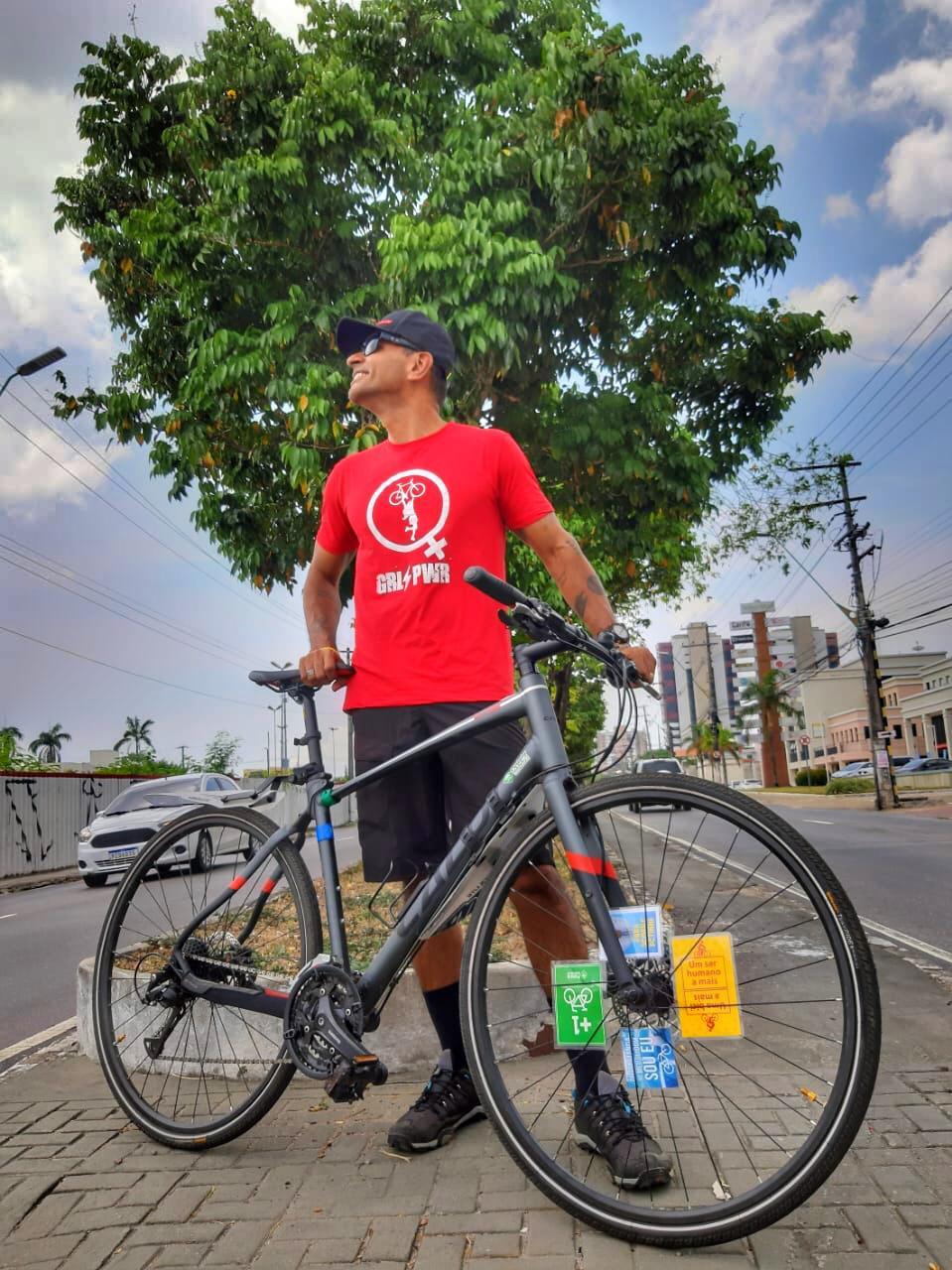 Paulo e a bike / Acervo pessoal