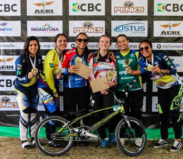Priscilla Stevaux conquistou a 4ª etapa da Copa Brasil de BMX Race