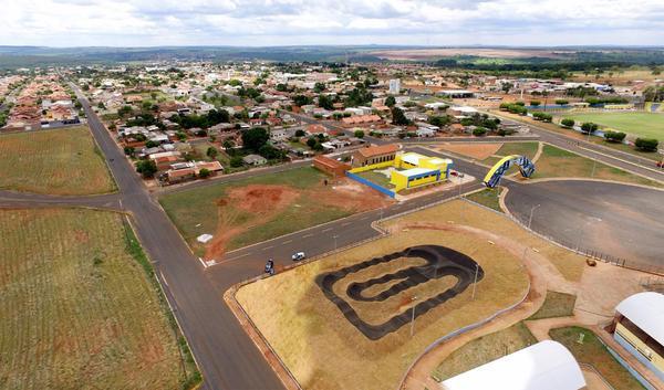 Vista aérea do complexo esportivo do Mundial de 24H (Divulgação)