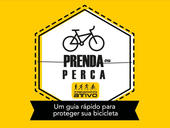Dicas da Ong Transporte Ativo para prender a bike com segurança
