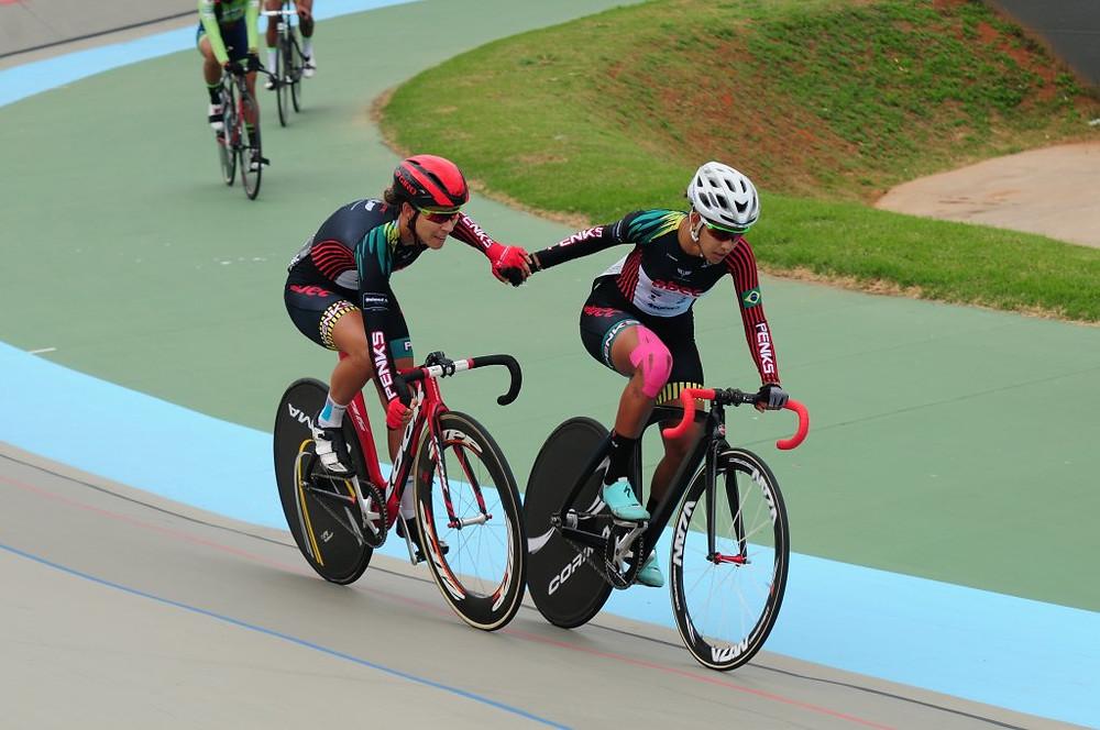 Wellyda e Daniela na Madison Crédito: Luis Claudio Antunes/CBC