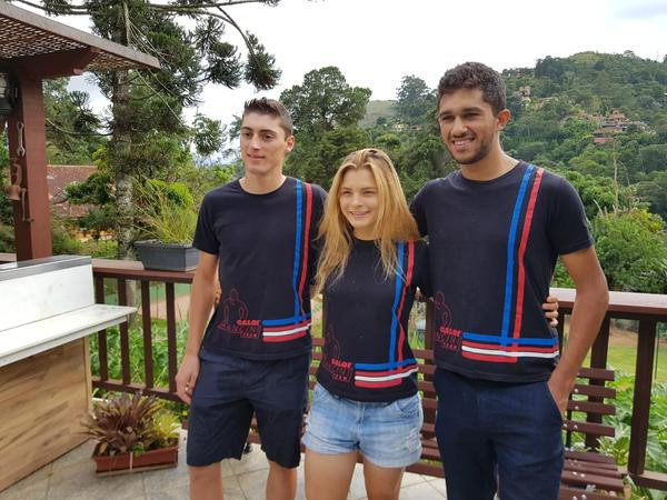 Edson, Marcela e Pedro, integrantes do projeto (Shimano / Divulgação)