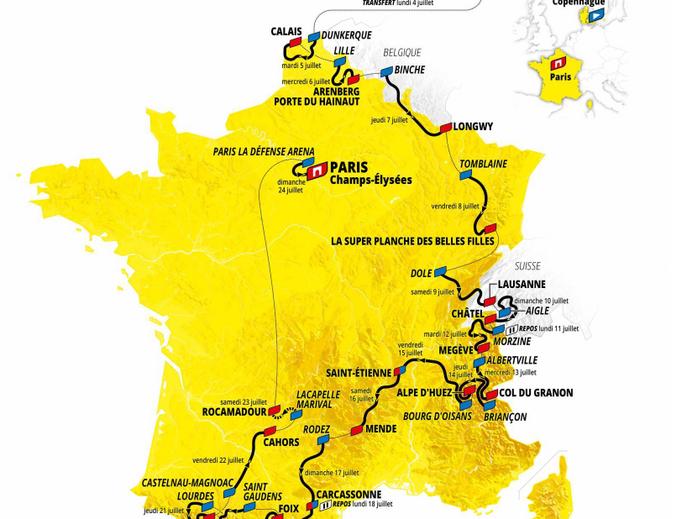 Tour de France 2022 passará em 3 países, 9 cidades inéditas, montanhas, 2 contra-relógios e 3.328 KM