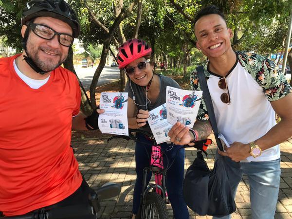 Ciclistas animados com o evento  (Divulgação)