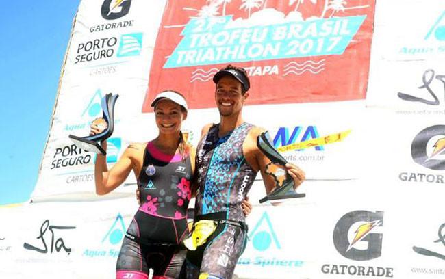 Fernanda no pódio do Troféu Brasil de Triathlon / Divulgação