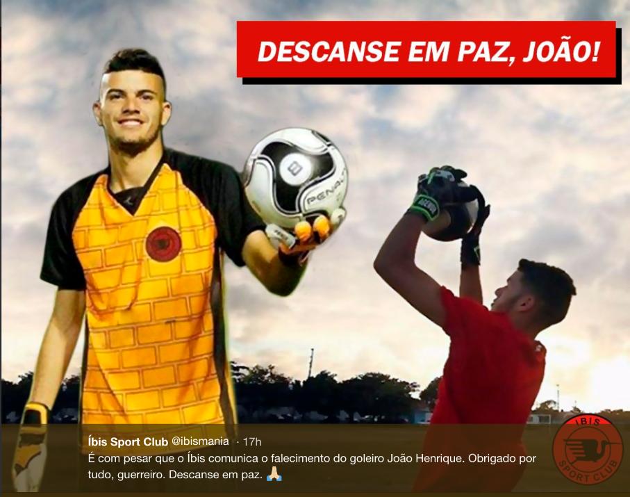 Homenagem ao João Henrique / Reprodução Twitter