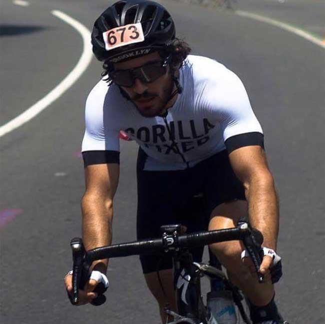 Jow em ação na Copa Rio de Ciclismo / Acervo pessoal