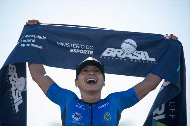 Bia Neres é tetracampeã do Circuito UFF Rio Triathlon / Miriam Jeske - Divulgação