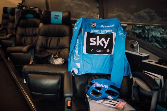 Camisa de montanha do Giro / Russ Ellis -Team Sky