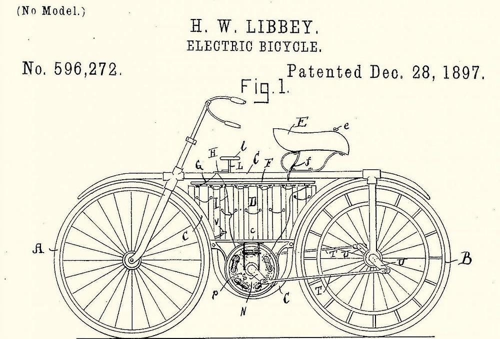 Patente antiga de e-Bike / Divulgação