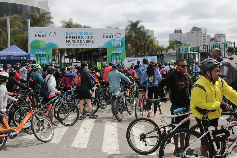 Ciclistas chegando no Memorial neste ano / Márcio de Miranda - Planeta da Bike