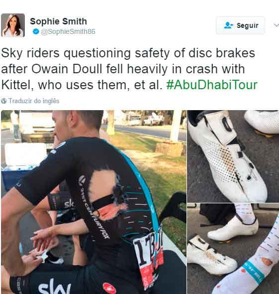 Post da jornalista que no local do acidente / Reprodução Twitter
