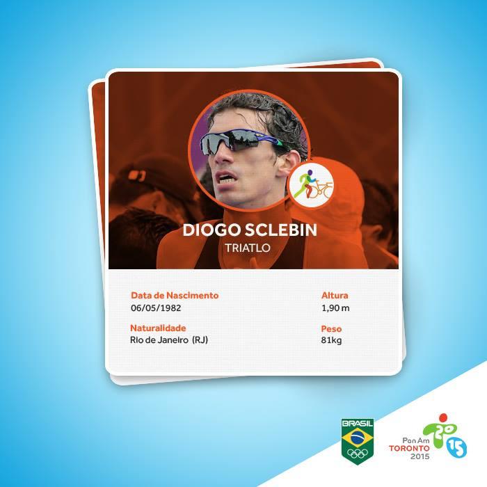 O carioca Diogo Sclebin foi um dos representantes brasileiros no Pan de Toronto-2015 / Divulgação COB