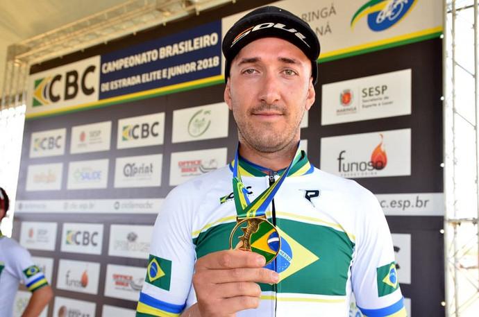 Rodrigo do Nascimento conquista o tetra nacional de Ciclismo de Estrada em Maringá