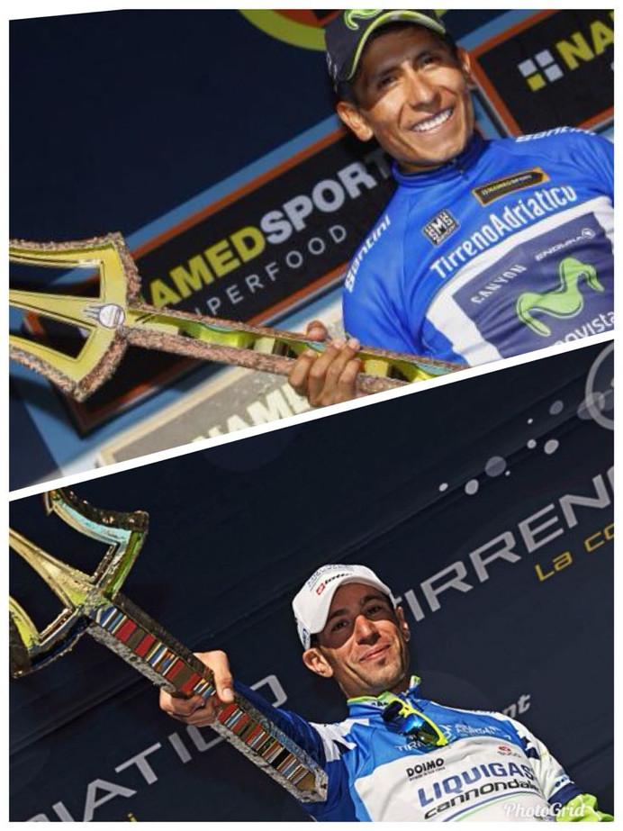 Nairo Quintana e Vincenzo Nibali querem vencer pela terceira vez a Tirreno -Adriatico