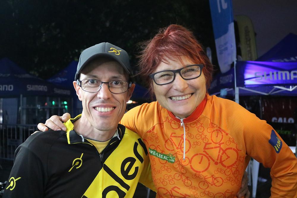 Edu Capivar (Pedaleria) e Renata Falzoni (Bike é Legal) no Shimano Fest deste ano / Márcio de Miranda - Planeta da Bike