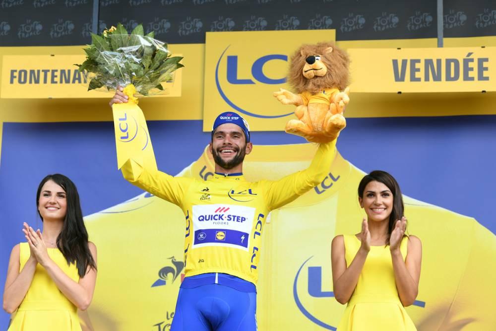 Gaviria de amarelo no Tour de France / ASO - Pauline Ballet