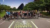Campanha de conscientização para não se pedalar esportivamente em área de lazer