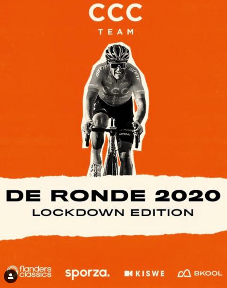 Greg Van Avermaet no flyer da Lockdown Edition / Reprodução Instagram