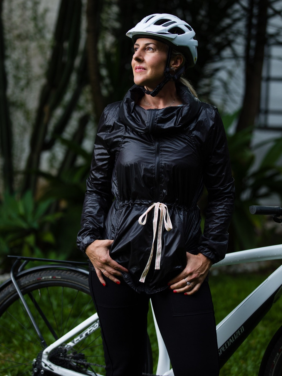 Gisele com look para pedalar / Divulgação