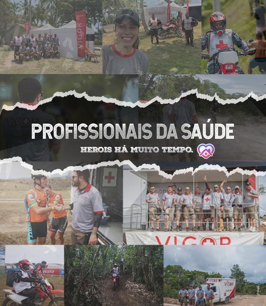 Profissionais da Saúde - Heróis há muito tempo (Divulgação / Brasil Ride)