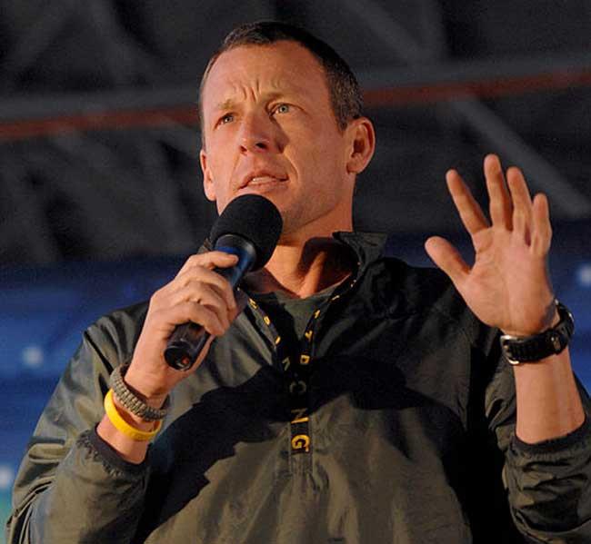 Lance Armstrong falando sobre a superação do câncer / Divulgação