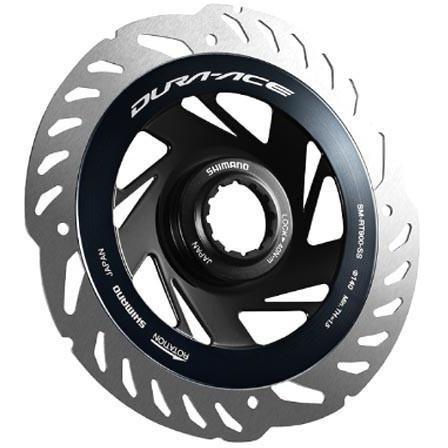 Disco de freio Shimano, um dos mais usados no pelotão profissional / Divulgação