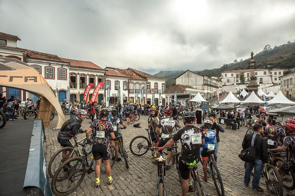 Ciclistas lotaram Ouro Preto durante o Xterra / Divulgação