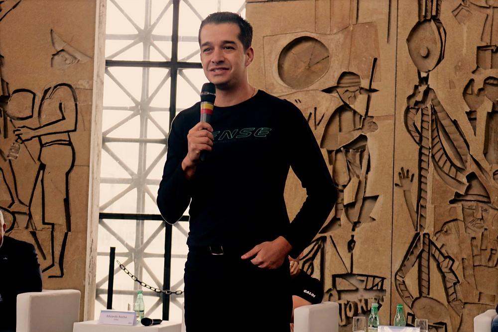 Henrique da Sense na abertura do Shimano Fest 2019 / Márcio de Miranda - Planeta da Bike