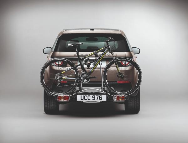Discovery Sport com hack para bike  (Divulgação / Land Rover)