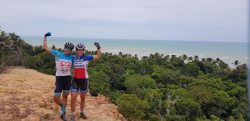 Raiza e Margot na Bahia para Brasil Ride deste ano / Acervo pessoal