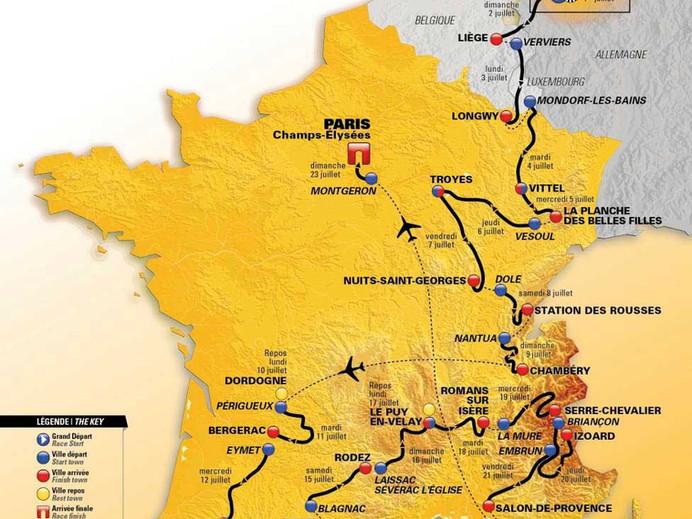 104º edição do Tour de France vai passar  por cinco grupos de montanhas francesas