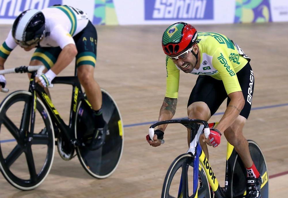 Lauro na conquista do título mundial Crédito: Fernando Maia/MPIX/CPB